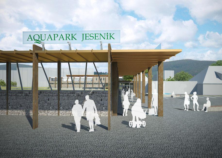 Projekt aquaparku v Jeseníku