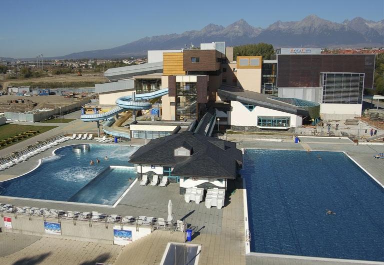 Projekt bazénovej technológie v Aquacity Poprad připravil Centroprojekt