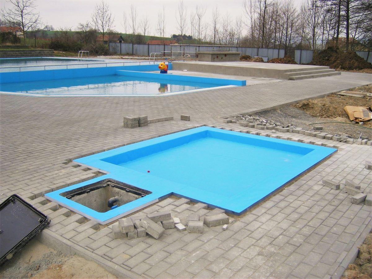 Bazénové fólie a technologie pro koupaliště Roštín