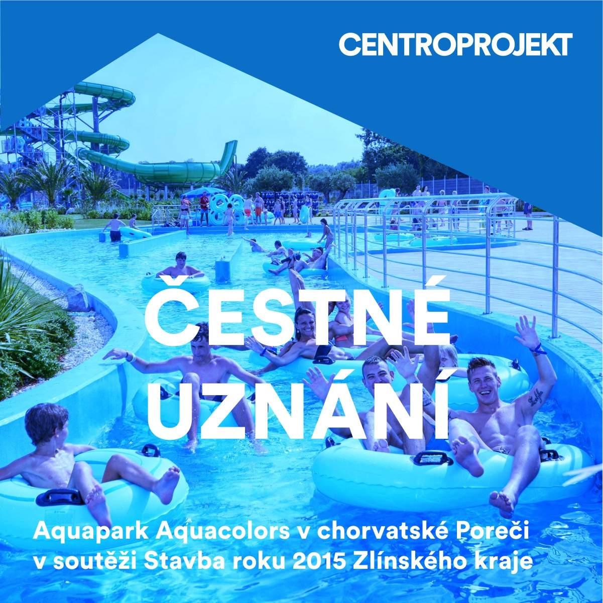 Chorvatský aquapark Aquacolors v Poreči uspěl ve Stavbě roku Zlínského kraje