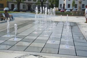 Projekt a realizace fontány v Hulíně