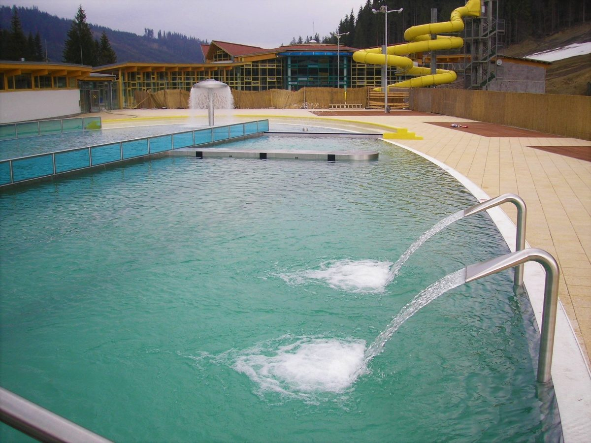 Bazénová technologie pro aquapark Meander v Oravici