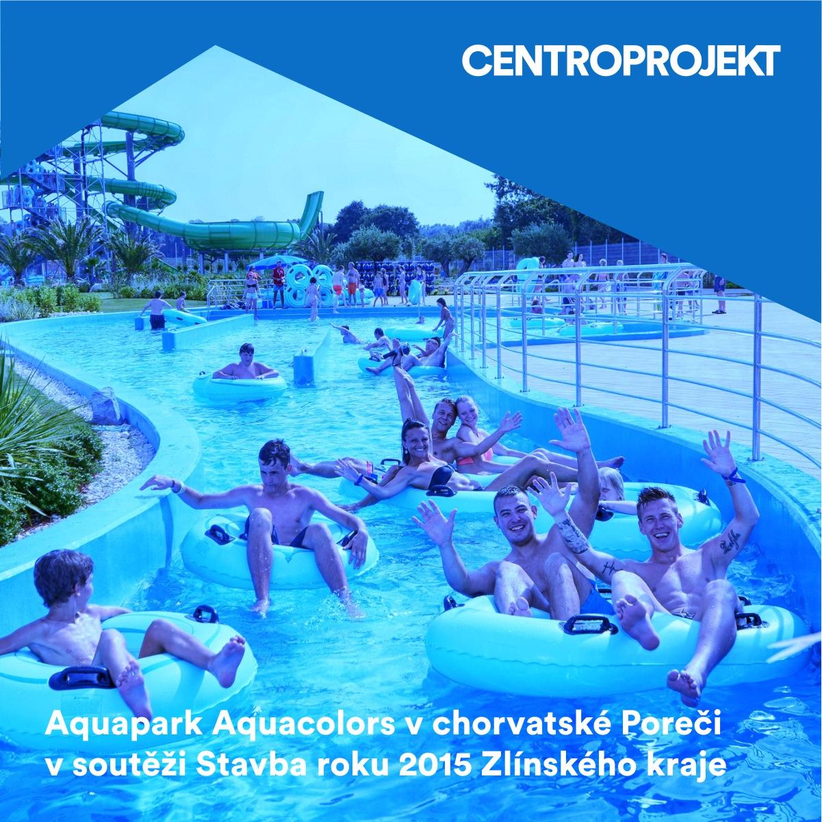 Aquapark Aquacolors v chorvatské Poreči v soutěži Stavba roku Zlínského kraje