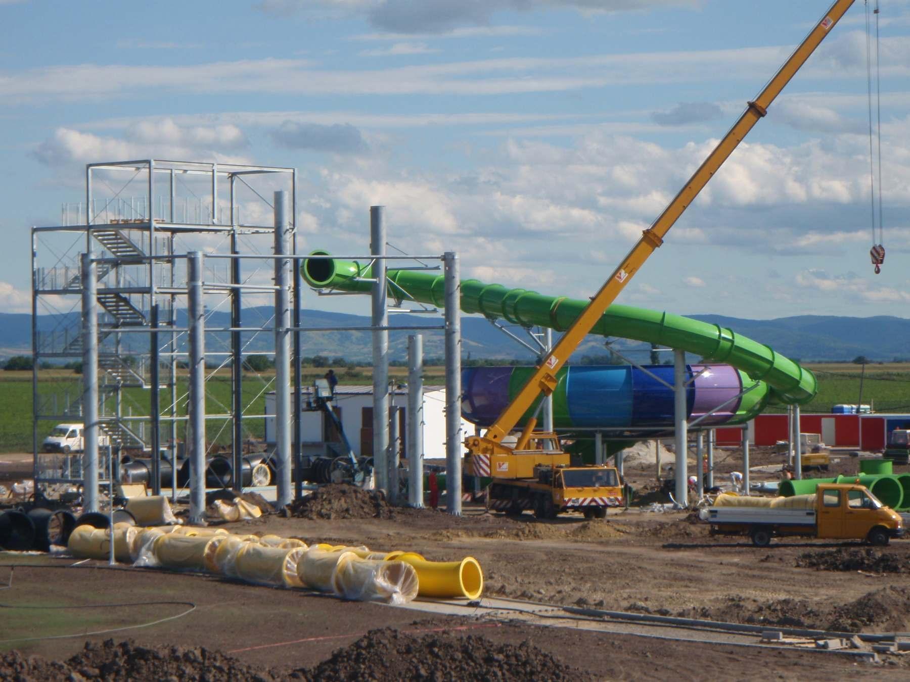 Za prací do Srbska: výstavba aquaparku Bački Petrovac
