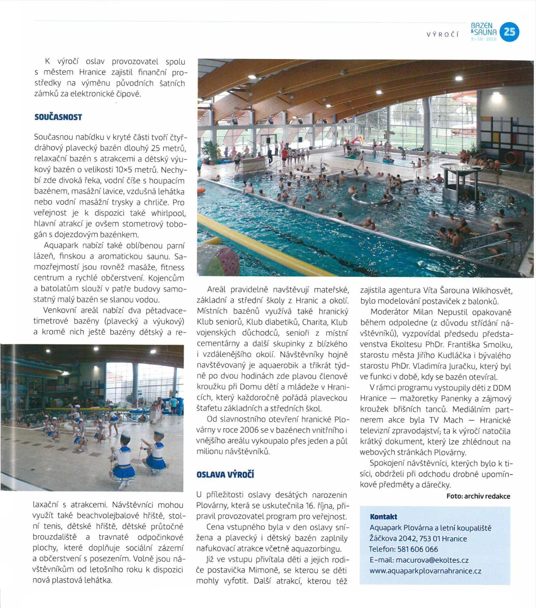 Krytý bazén v Hranicích