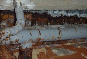 Chybějící povrchová úprava u ocelových prvků